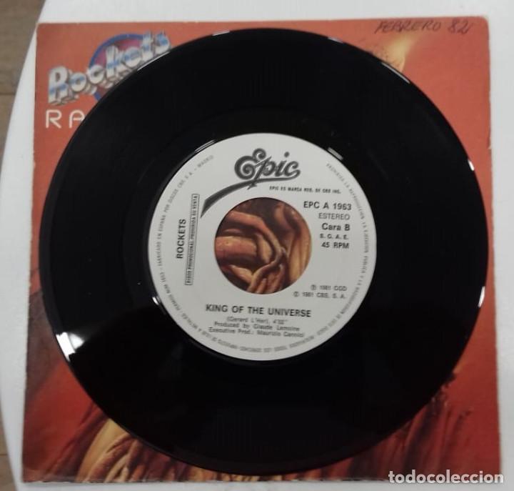 Discos de vinilo: ROCKETS - RADIATE - SG PROMO - ED ESPAÑOLA 1982 - Foto 4 - 128439619