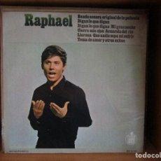 Discos de vinilo: RAPHAEL DIGAN LO QUE DIGAN ( SANTIAGO DE CHILE ) VERANO // MI GRAN NOCHE // TEMA DE AMOR // . Lote 128442943
