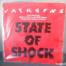 Discos de vinilo: JACKSONS - STATE OF SHOCK. Lote 128444223
