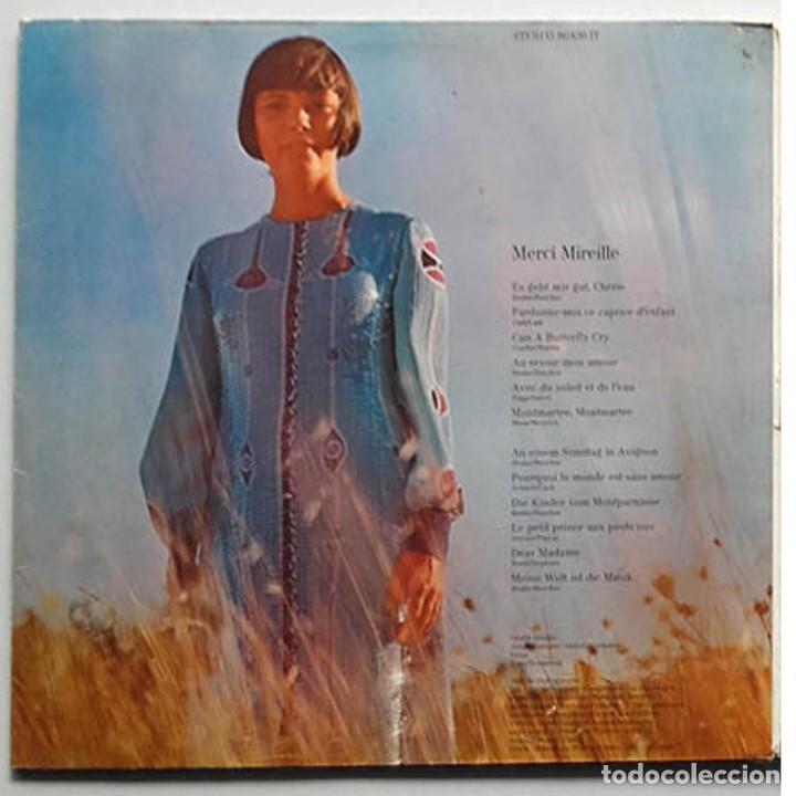 Discos de vinilo: LP Merci Mireille, Mirelle Mathieu, Edición Alemana - Foto 5 - 128458051