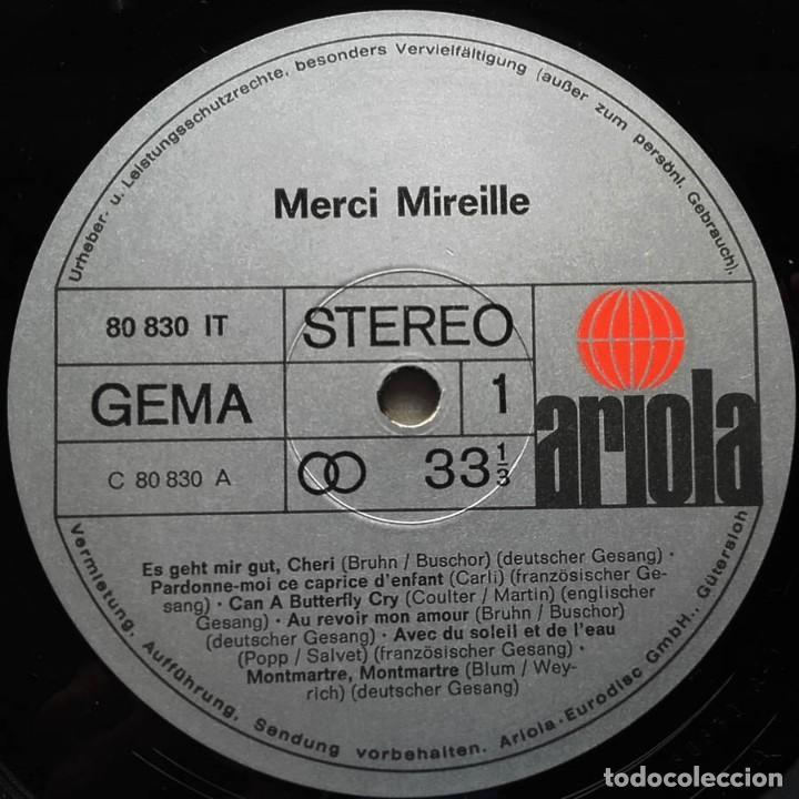 Discos de vinilo: LP Merci Mireille, Mirelle Mathieu, Edición Alemana - Foto 6 - 128458051