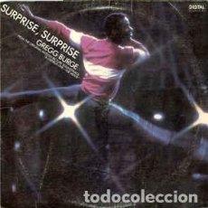Discos de vinilo: GREGG BURGE - SURPRISE, SURPRISE - 7 SINGLE - AÑO 1985. Lote 128459567