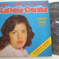 Discos de vinilo: CLAUDIA OSUNA - AMOR AMOR AMOR - LP COLOMBIA PHILIPS 1973 // FESTIVAL DE LA O.T.I. OTI. Lote 128468203