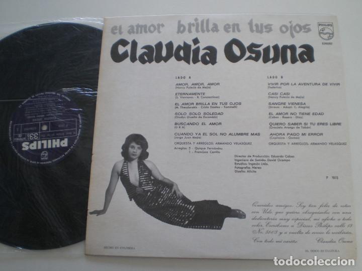 Discos de vinilo: CLAUDIA OSUNA - Amor Amor Amor - LP COLOMBIA PHILIPS 1973 // Festival De La O.T.I. OTI - Foto 2 - 128468203