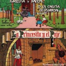 Discos de vinilo: ISABELITA Y ANTON O LA CASITA DE TURRON / LA PRINCESITA Y EL PAJE - EP 1958 ODEON - CUENTOS. Lote 128472031
