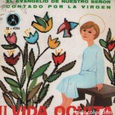 Discos de vinilo: EL EVANGELIO DE NUESTRO SEÑOR CONTADO POR LA VIRGEN - II VIDA OCULTA - EP 1963. Lote 128474631
