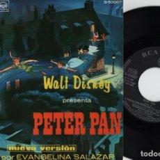 Discos de vinilo: WALT DISNEY PRESENTA PETER PAN - EP DE VINILO RCA VICTOR 1967 - CUENTOS. Lote 128475255