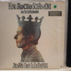 Discos de vinilo: LP. KING ROCKO SCHAMONI AND THE EXPLOSION - JEANS UND ELEKTRONIK. Lote 128483719