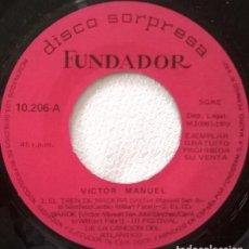 Discos de vinilo: FUNDADOR 10.206 - VICTOR MANUEL / NINO BRAVO – EL TREN DE MADERA / EL COBARDE + 2 TEMAS - EP 1970. Lote 128493063