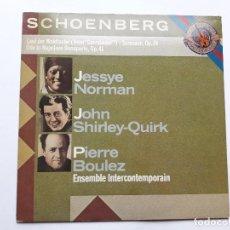 Discos de vinilo: ARNOLD SCHOENBERG, JESSYE NORMAN, JOHN SHIRLEY-QUIRK, PIERRE BOULEZ. Lote 128494115