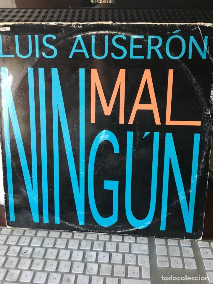 LUIS AUSERON-NINGUN MAL-1994-RADIO FUTURA (Música - Discos de Vinilo - Maxi Singles - Solistas Españoles de los 70 a la actualidad)