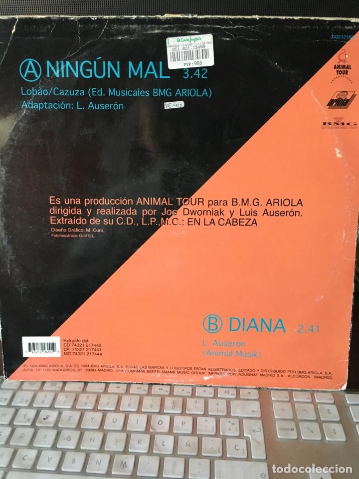 Discos de vinilo: LUIS AUSERON-NINGUN MAL-1994-RADIO FUTURA - Foto 2 - 128506447