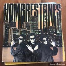 Discos de vinilo: HOMBRESTONES - ORO EN EL MANZANARES - LP RNE 1990. Lote 128516939