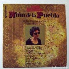 Discos de vinilo: 1969 LP NIÑA DE LA PUEBLA, ACOMPAÑA A LA GUITARRA PEPE MARTÍNEZ. Lote 128522451