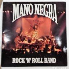 Discos de vinilo: MANO NEGRA - ROCK ´N´ROLL BAND / PATCHANKA - EL SUR SG ED. FRANCESA 1990 HOJA PROMOCIONAL. Lote 128536451