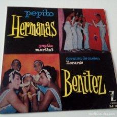 Discos de vinilo: HERMANAS BENITEZ- PEPITO- EP 1960- EXC. ESTADO.. Lote 128537335