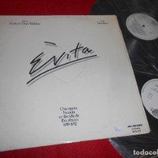 Discos de vinilo: EVITA BSO OST ANDREW LLOYD WEBBER TIM RICE 2LP 1976 MCA GATEFOLD SPAIN. Lote 128561499