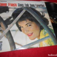 Discos de vinilo: CONNIE FRANCIS SINGS FOLK SONG FAVORITES LP 1961 MGM USA. Lote 128564435