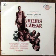 Discos de vinilo: JULIO CESAR - MIKLOS ROZSA -DIALOGOS Y MÚSICA- MARLON BRANDO, JAMES MASON, DEBORAH KERR -SHAKESPEARE. Lote 128570047