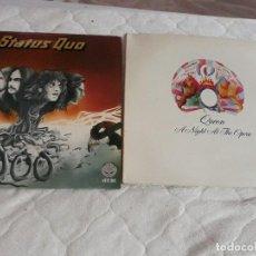Discos de vinilo: LOTE DE 2 DISCOS DE VINILO STATUS QUO .QUEEN SINGLE A NIGHT AT THE OPERA . Lote 128575175