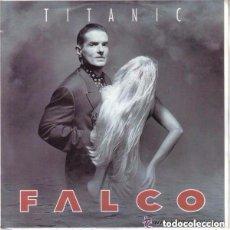 Discos de vinilo: FALCO, TITANIC, SINGLE PROMO GERMANY 1992. Lote 128585203