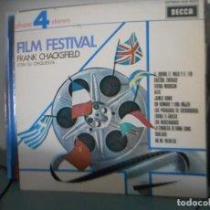 Discos de vinilo: FILM FESTIVAL - FRANK CHACKSFIELD CON SU ORQUESTA. Lote 128589799