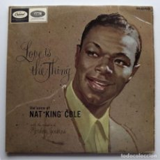 Discos de vinilo: 1957, NAT KING COLE, LOVE IS THE THING, CAPITOL RECORDS, LCT 6129, MONO. Lote 128592627