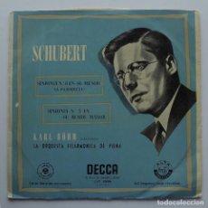 Discos de vinilo: 1955 LP SCHUBERT, SINFONÍAS 5 Y 8, DECCA, LXT 2998. Lote 128594987
