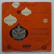 Discos de vinilo: 1955 LP GLINKA, BORODIN, MUSSORGSKY, DECCA, LXT 2833. Lote 128595199