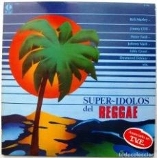 Discos de vinilo: VARIOS (BOB MARLEY/DESMOND DEKKER/PETER TOSH...) - SUPER IDOLOS DEL REGGAE - LP K-TEL 1980 BPY. Lote 128597867