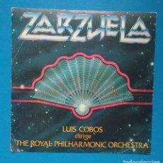 Discos de vinilo: ZARZUELAS - LUIS COBOS DIRIGE THE ROYAL PHILHARMONIC ORCHESTRA. Lote 128607811
