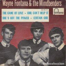 Discos de vinilo: WAYNE FONTANA AND THE MINDBENDERS - THE GAME OF LOVE - EP ESPAÑOL DE VINILO. Lote 136816002