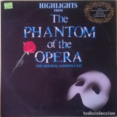 Discos de vinilo: ANDREW LLOYD WEBBER, HIGHLIGHTS FROM THE PHANTOM OF THE OPERA (BSO) LP SPAIN 1987. Lote 128625035