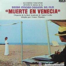 Discos de vinilo: LUCHINO VISCONTI - MUERTE EN VENECIA, BANDA SONORA - LP RCA SPAIN 1972. Lote 128626907