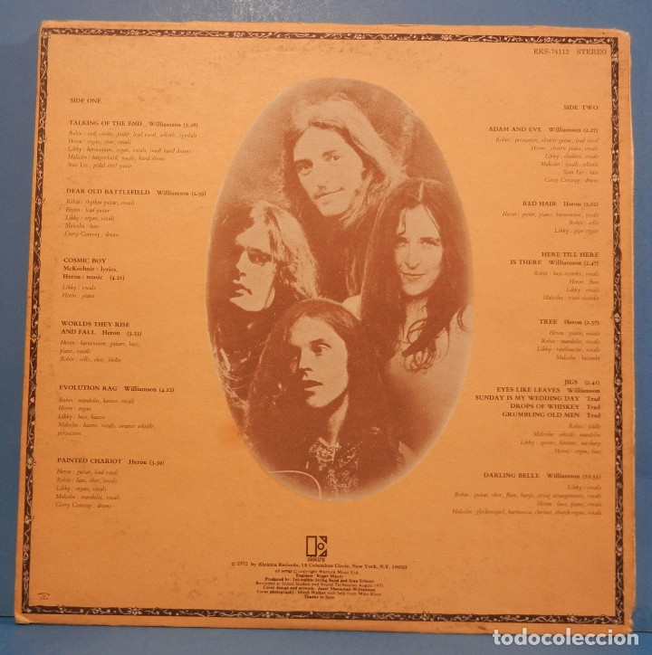 Discos de vinilo: THE INCREDIBLE STRING BAND / liquid acrobat regards the air 72, ELEKTRA PSYCHEDELIC , USA EDIT, EXC - Foto 4 - 128627207