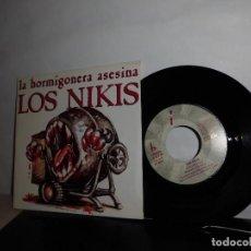 Discos de vinilo: LOS NIKIS -LA HORMIGONERA ASESINA - AGRADECIDO--DRO-MADRID- 3 CIPRESES-AÑO 1989-. Lote 128628987