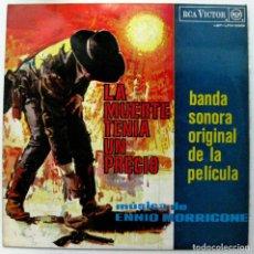 Discos de vinilo: ENNIO MORRICONE - LA MUERTE TENIA UN PRECIO - LP RCA VICTOR 1966 (LABEL NEGRO - 1A EDICIÓN) BPY. Lote 128630999