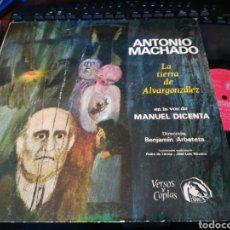 Discos de vinilo: MANUEL DICENTA ANTONIO MACHADO LP LA TIERRA DE ALVARGONZALEZ 1966 FIDIAS. Lote 128637879