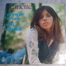Discos de vinilo: JEANETTE - LP EN FRANCES. Lote 128645606