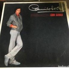 Discos de vinilo: CAMILO SESTO - CON GANAS LP PROMOCIONAL ARIOLA 83. Lote 128649063