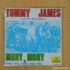 Discos de vinilo: TOMMY JAMES AND THE SHONDELLS - MONY, MONY / ONE, TWO, THREE AND I FELL - SINGLE. Lote 128658059