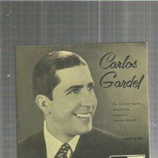 Discos de vinilo: CARLOS GARDEL POR TUS OJOS. Lote 128664555