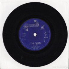 Discos de vinilo: THE WHO I'M A BOY / IN THE CITY 1966 ORIGINAL UK SINGLE 45 REACTION 591004. Lote 128667059