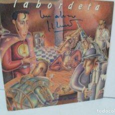 Discos de vinilo: LABORDETA. QUE VAMOS HACER.. JOSE ANTONIO LBORDETA. DEDICADO POR EL AUTOR. LP VINILO. FONOMUSIC 1987. Lote 128674595