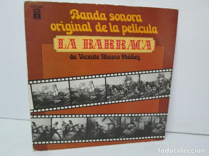 BANDA SONORA ORIGINAL DE LA PELICULA LA BARRACA. POSIBLEMENTE DEDICADO POR ALVARO DE LUNA. 1979 (Música - Discos de Vinilo - EPs - Bandas Sonoras y Actores)