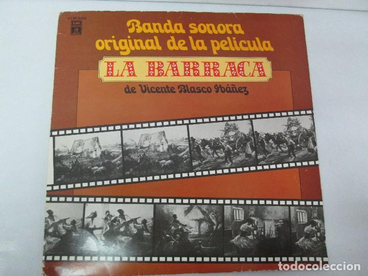 Discos de vinilo: BANDA SONORA ORIGINAL DE LA PELICULA LA BARRACA. POSIBLEMENTE DEDICADO POR ALVARO DE LUNA. 1979 - Foto 2 - 128677635