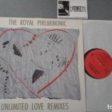 Discos de vinilo: LUIS COBOS & THE ROYAL PHILHARMONIC ?– UNLIMITED LOVE REMIXES MAXI. Lote 128681875