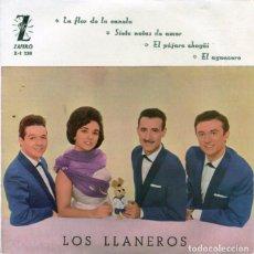 Discos de vinilo: LOS LLANEROS / LA FLOR DE LA CANELA + 3 (EP 1961). Lote 128686619