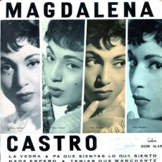Discos de vinilo: MAGDALENA CASTRO / LA YEDRA + 3 (EP 1961). Lote 128687959