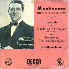 Discos de vinilo: MANTOVANI / BARCAROLA + 3 (EP 1958). Lote 128688243